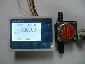 3 8 Flow Control Lcd Display Oil Fuel Gasoline Diesel Milk Water Gear Sensor