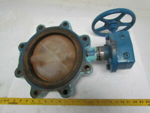 Dezurik 2035151 8 Butterfly Valve Flanged Epdm Seat Manual Gear Actuator