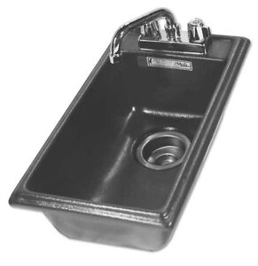 Moli Compact Drop in Hand Sink W Deck For Faucet Dbhs 1120 Black 159