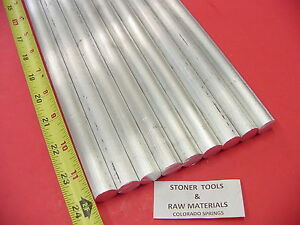 9 Pieces 3 4 Aluminum 6061 Round Rod 24 Long T6511 Solid New Lathe Bar Stock