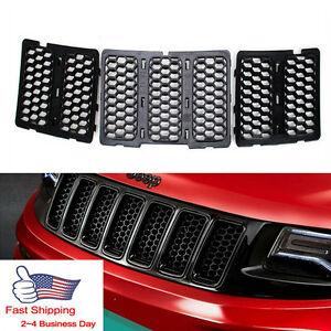 Honeycomb Matte Mesh Grille Inserts Cover For Jeep Grand Cherokee 2014 2015 2016