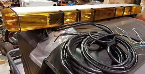 New 55 Whelen 9m Edge Series Lightbar 8 Strobes 4 Flashers Take Downs