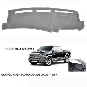 New Dodge Ram 1500 2500 Truck Custom Silver Gray Dashboard Dash Cover 1998 2001