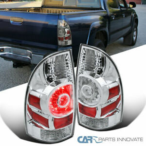 For 05 15 Toyota Tacoma Pickup Clear Led Rear Tail Lamps Brake Parking Lights
