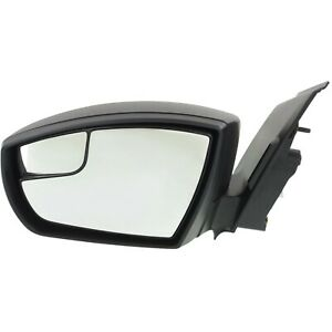 Power Mirror For 2013 2016 Ford Escape Left Side Manual Fold Textured Black
