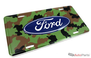 New Ford Camo License Plate Aluminum Stamped Embossed Metal Tag
