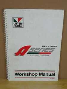 Lister Petter A Series Engines Workshop Repair Manual Aa1 Ac1 Series 2 Ad1