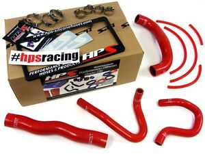 Hps Red Silicone Radiator Heater Hose Kit Coolant Oem Replacement 57 1324 Red