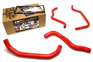Hps Red Silicone Radiator Heater Hose Kit Coolant Oem Replacement 57 1389 Red