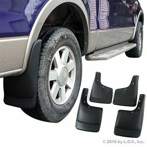Fits Ford F 150 Mud Flaps 2004 2014 Mud Guards Splash Guards Molded 4 Front Rear