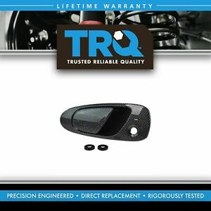 Trq Outside Exterior Door Handle Carbon Fiber Look Front Lh Driver For Civic