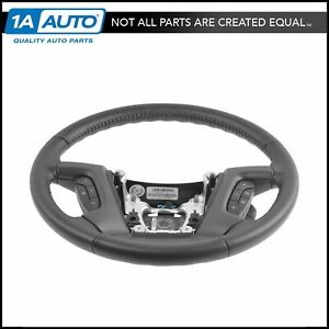 Oem Black Leather Steering Wheel With Cruise Radio Controls For Gm Pickup Suv