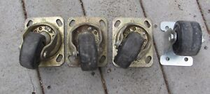 Lot Of 3 Bassick 399 Swivel Casters Industrial Furniture Factory Cart Extra