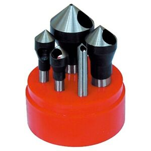 5 Piece 82 Degree Zero flute Countersink Deburring Tool Set 2001 0006