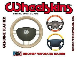 Perforated Genuine Leather Steering Wheel Cover For Honda Fit
