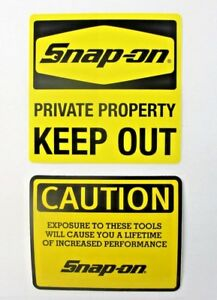 New Genuine Official Snap On Tools 2 Piece Decal Sticker Set 11 Free S H