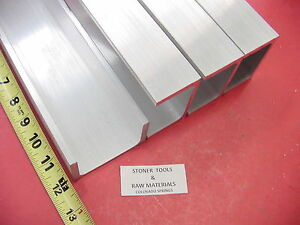 4 Pieces 3 x 1 75 Aluminum Channel 6061 X 26 Flang 12 Long T6 Mill Stock