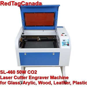 Sl 460 50w Co2 Laser Cutter Engraver Machine For Glass Arylic wood leather