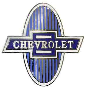 Chevrolet Chevy Radiator Grille Shield Emblem 1929 1931 Car 1929 1932 Truck