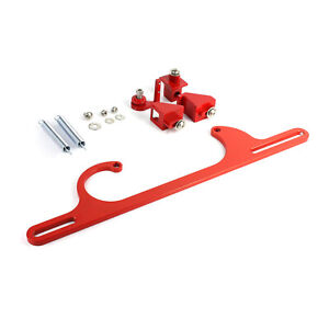 Carburetor Throttle Cable Bracket Kit W Return Springs Billet Red