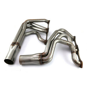 Fit Chevy Sbc 350 Imca Modified Mild Steel Exhaust Headers Raw
