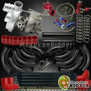 Universal 2 5 Intercooler bov piping couplers V band Turbo turbocharger Kit