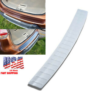 1x Rear Bumper Protector Tailgate Sill Plate Cover For Nissan Rogue 2014 2017