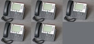 Lot Of 6 Cisco Cp 7960g Ip Phone 7960 Voip Business Phone Handsets