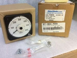 Meter Master Switch Board 0 150v 600 Ac Acv trms Meter 077 05ga pzxx New 199