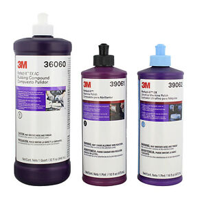 3m Perfect it 16oz Buffing Polishing Compound Kit 39060 39061 39062