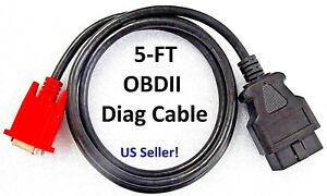 Obd2 Obdii Main Cable For Launch X431 Creader Crp123 Vii Crp129 Viii Scan Tool