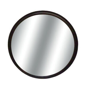 Round 3 Black Blind Spot Convex Glass W Stick on Mount Mirror For Auto car