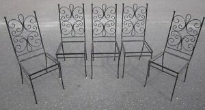 Set Of Four Mid Century Iron Chairs By Gallo Original Iron Works Inc