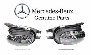 For Mercedes C209 C215 W203 W211 Pair Set Of 2 Bumper Fog Light Lamp Assies Oes