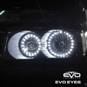 Universal Car Neon Halo Angel Eyes For Headlights 3 5 Diameter Ultra White