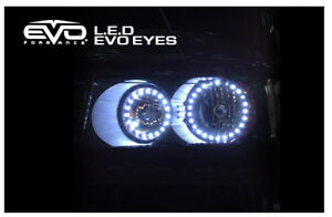 Evo Formance Universal Car Led Angel Eyes For Headlights Halo Circle Rings White