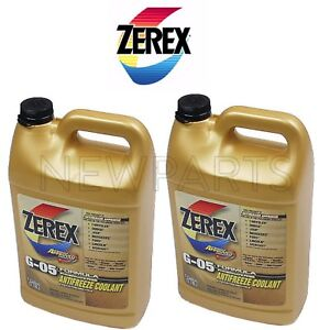 New 2 Gallons Engine Coolant Antifreeze G 05 Yellow Concentrate Zerex Zxg051