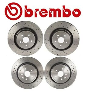 For Lexus Is F 08 14 5 0l V8 Two Front Two Rear Disc Brake Rotors Kit Brembo Oem