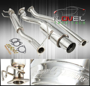 Stainless Steel Catback Exhaust System 65mm 4 25 Tip For 2002 2006 Rsx Type s