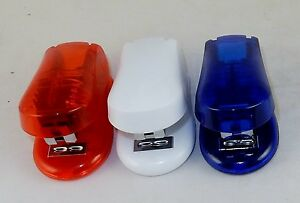 Lot Of 3 Mini Staplers Compact For Pocket Purse Briefcase Choice Of Colors