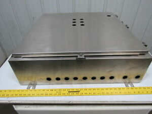 Saginaw Sce 30h3008sslp 304 Ss Stainless Steel Electrical Enclosure 30 x30 x8