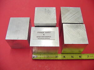 5 Pieces 2 1 2 X 2 1 2 Aluminum 6061 Square Solid Bar 3 Long T6511 Mill Stock