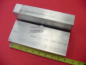 2 Pieces 1 1 2 x 3 1 2 Aluminum 6061 Flat Bar 8 65 Long Solid Plate Mill Stock