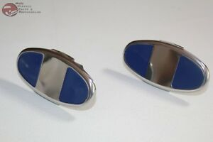 1930 1931 Ford Model A Stainless Steel Bumper Clamps New Pair Set Of 2