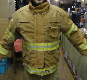 Iso Dri Jamesville 2000 Lg Firefighter Jacket Rescue Gear Turnout Gear