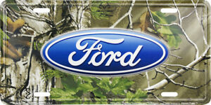 Ford Logo Realtree Camo Camouflage Novelty License Plate Tag For Front Car truck