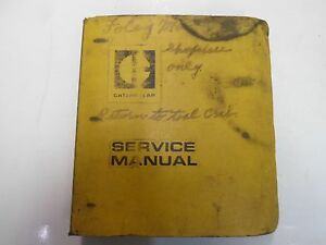 Caterpillar 3204 D3 Tractor Power Train Backhoe 931 Service Manual Binder Stains