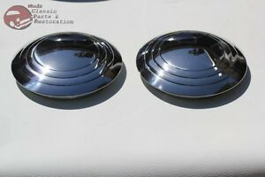32 35 Ford Plain Smooth 3 Ring Hub Caps Hot Rat Street Rod Pickup Truck New