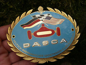 Vintage German Dasca German American Sports Car Club Augsburg Enamel Car Badge