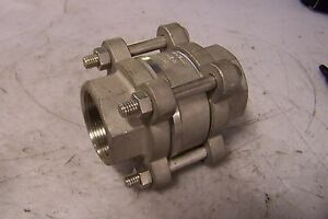 New Socla 1 1 2 Stainless Steel In line Check Valve Model F812x 40